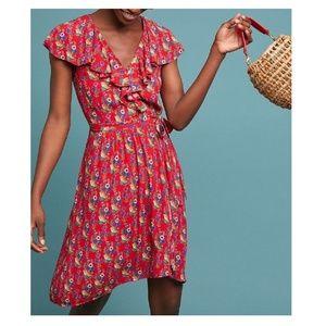 Anthropologie Rosalia Wrap Dress by Maeve $158